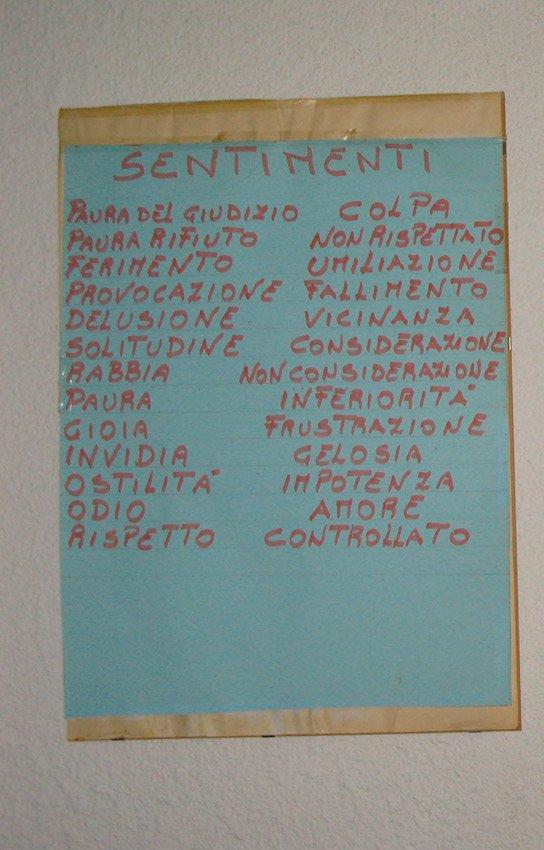 Poster dei sentimenti a Caprile